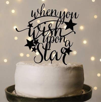 Black Cake Topper-When You Wish Upon Star,
