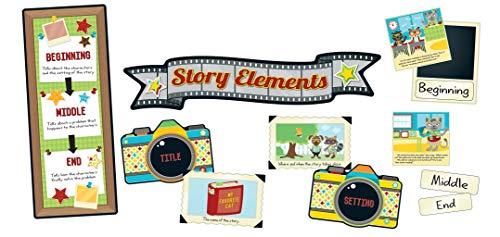 Carson Dellosa Hipster Story Elements Bulletin Board Set