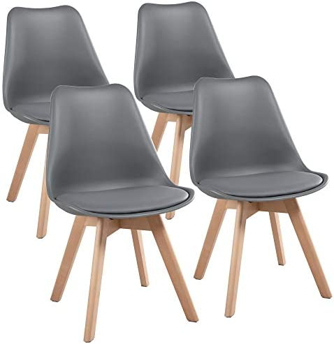 YAHEETECH Dining Chairs DSW Chair Accent Chair Shell PU Side Chair
