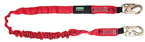 MSA Safety 10023932 Lightweight Streamlined FP Diamond Shock Absorbing Lanyard, 6' Fp Diamond Shock
