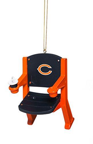 NFL Chicago Bears Football Stadium Chair Christmas Ornament, Small, Multicolored