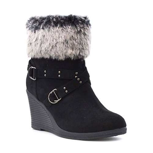 Wedge Fur Boots - 9