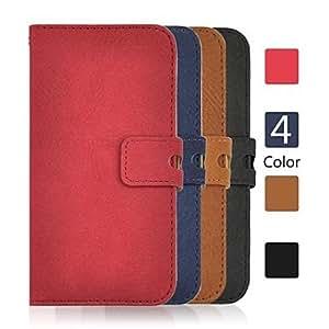 YULIN angibabe últimas 2 en 1 mate caja de la carpeta de cuero de la PU con desmontable para iphone 6 (color clasificado) , Brown