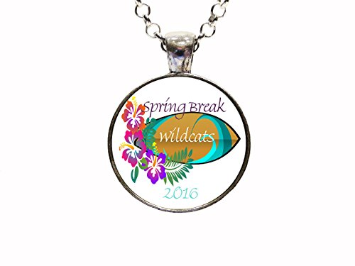 - Digital Art Spring Break Necklace Or Keychain College University College Basketball March Madness Wildcats Kentucky Villanova Kansas State Northwestern University Of Arizona