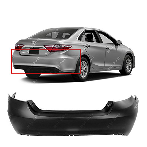 MBI AUTO - Primered, Rear Bumper Cover for 2015-2017 Toyota Camry 15-17, TO1100315
