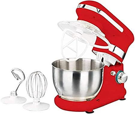 Korkmaz Retro Mix Máquina Mezcladora Robot de Cocina 600W Rojo: Amazon.es: Hogar