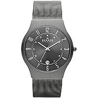 Skagen Watches, Men's Titanium 233XLTTM Grey Mesh Titanium Watch