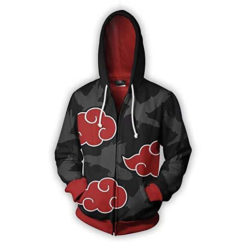 - gyang Naruto Sweater/Naruto Jacket Hooded School Uniform/Cosplay Naruto Casual Hoodie - 3D Pullover Apparel (Black, 3XL)