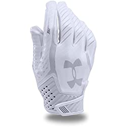 Under Armour Men's Spotlight Football Gloves,White (100)/Metallic Silver, Large