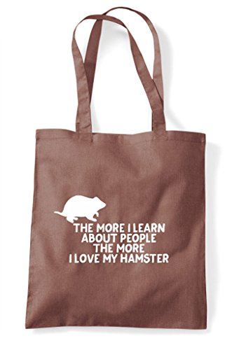 Learn Lover Tote Funny Shopper Chestnut My More I Pets The Love People Bag Hamster About Person Animal EOqBnwvng