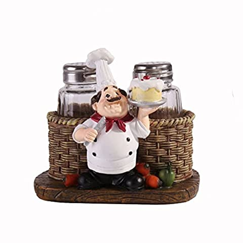 Home Decorative Resin Kitchen Chef Cook Figurine Statue Figure for Bakery Cafe Restaurant (A)