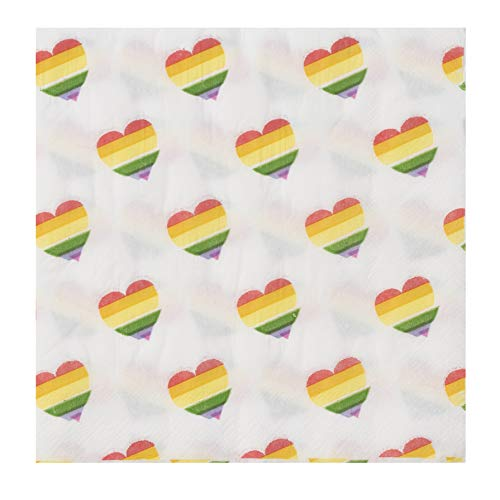 Cocktail Napkins – 150-Pack Luncheon Napkins, Disposable Paper Napkins Gay Pride Parade Party Supplies, 2-Ply, Rainbow…