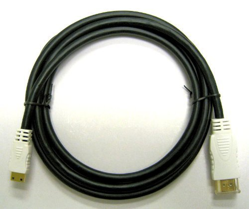 (Professional Canon EOS Rebel SL1 Camera Mini-HDMI to HDMI cable (6 Feet/1.8 Meters/Type A to C). (Black, White Connectors))