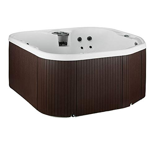 (LifeSmart 400DX 5-Person Rock Solid Plug and Play Spa with 19 Jets Plus Bonus Waterfall Jet and Free Super Energy Saving Value)