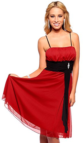 Womens Cocktail Chiffon Straight Neck Spaghetti Strap Empire Waist Party Dress