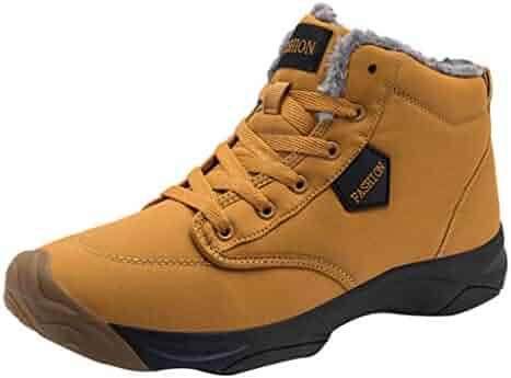 c60f78199 Dreamyth-Shoes Unisex Lace-Up Hiking Boots Leisure Flat Shoe Round Head  Keep Warm