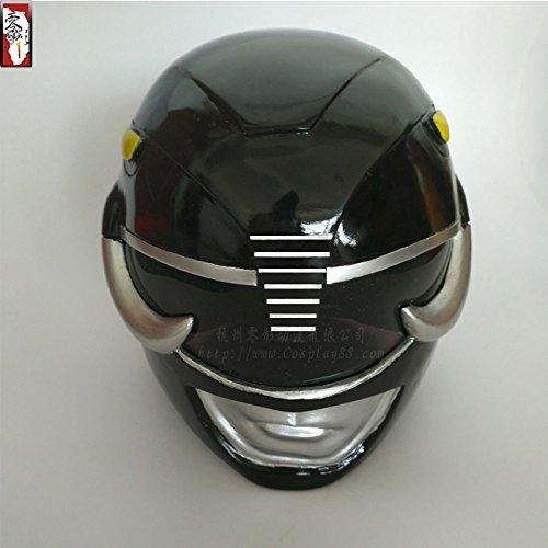 Power Rangers Black Ranger's Helmet Resin Cosplay Prop (Cosplay Power Rangers)