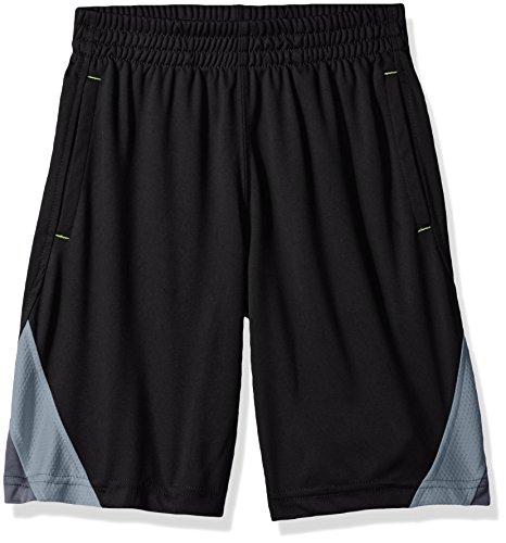 Spalding Big Boys' Core Athletic Short, Black/Gray, 10/12