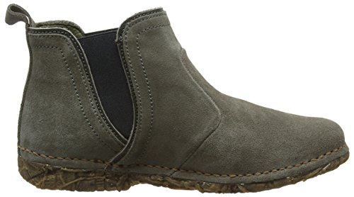 El Naturalista Women's N996 Lux Suede Grafito/Angkor Ankle Boots, Black Lux Suede/Antique, 38 European US Grey (Grafito Nr3)