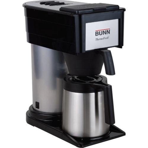 382000002 BUNN 10-Cup Thermofresh Home Brewer - 900 W - 10 Cup(s) - Black, Silver - Stainless Steel
