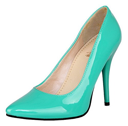 AmoonyFashion Girls Open Toe High Heel Chunky PU Pumps with Bandage and Assorted Colors