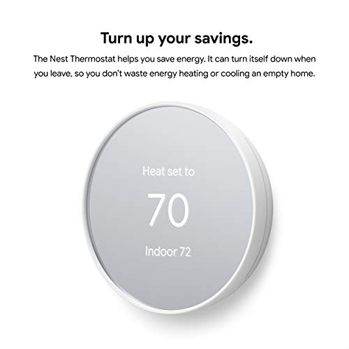 Google Nest Thermostat – Smart Thermostat for Home – Programmable Wifi Thermostat – Snow