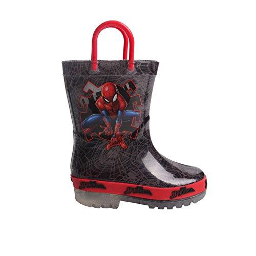 Character Kids Unisex Infants Light Up Sole Wellingtons Outdoor Wellie Boots Spiderman UK C8
