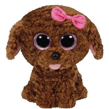Dog Beanie Plush (Ty Beanie Boos Maddie The Brown Dog with Bow Plush)