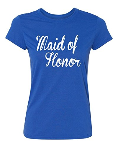 P&B The Brides Maid of Honor Women's T-Shirt, L, Royal