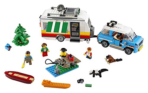 LEGO Creator 3in1 Caravan Family Holiday 31108 Vacation Toy Building Kit for Kids Who Love Creative Play and Camping Adventure Playsets with Cute Animal Figures, New 2020 (766 Pieces)