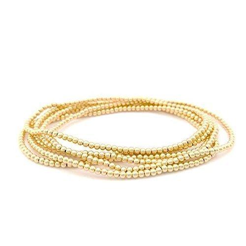 14k gold-filled 2mm beaded bracelet - 6.5