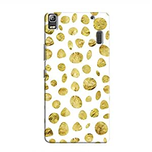 Cover It Up - White Pale Gold Pebbles A7000 / K3 Note Hard case
