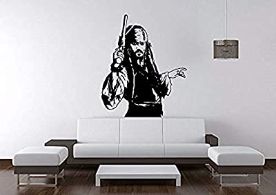 Wall Vinyl Decal Home Decor - Art Sticker Captain Jack Sparrow - Home Room Removable Mural HDS13534