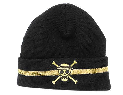 Ripple Junction One Piece Adult Unisex Straw Hat Skull Watchmen Beanie OS Black (One Piece Straw Hat Chase English Dub)