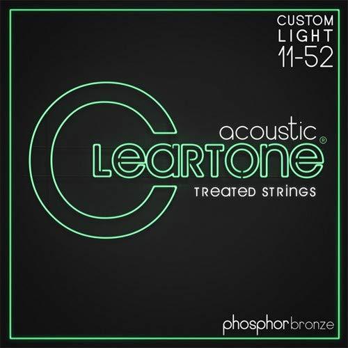 Light Gauge Coated Acoustic Guitar - Cleartone Custom-Light Gauge Coated Acoustic Guitar Strings