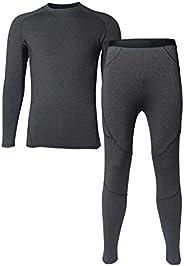 Men's Thermal Underwear Set Fleece Lined Top and Bottom Warm Long Johns Winter Sport S