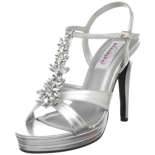 Dyeables Womens Ruby Platform Sandal Silver Metallic DoxtzkCXpu