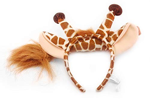 elope Giraffe Ears Costume Headband and Tail for Kids and Adults -