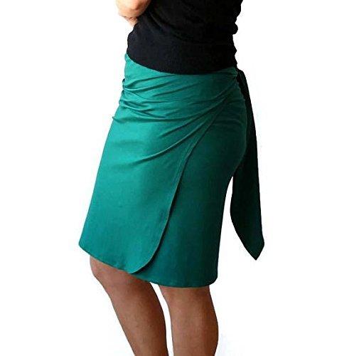 Wrap skirt, Pencil skirt, Plus size skirt, Womens skirt, Green skirt, Plus size, Plus size clothing, Fitted skirt, Knee length skirt by TasiFashion
