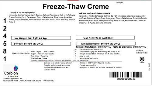 Corbion Caravan Freeze-Thaw Creme - Bulk 50 LB by Corbion (Image #2)
