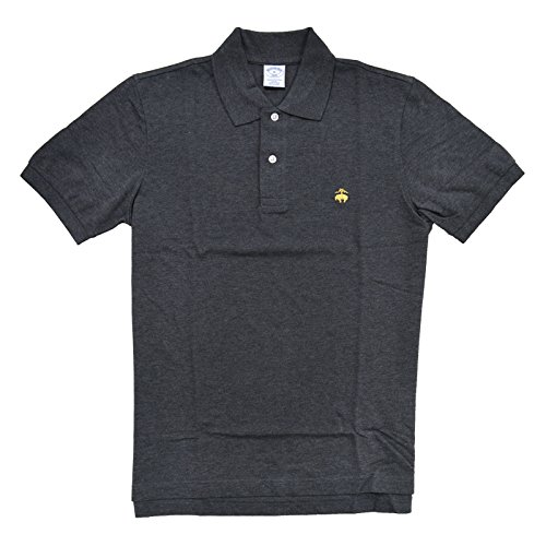 (Brooks Brothers Golden Fleece Slim Fit Performance Polo Shirt (L, Charcoal))
