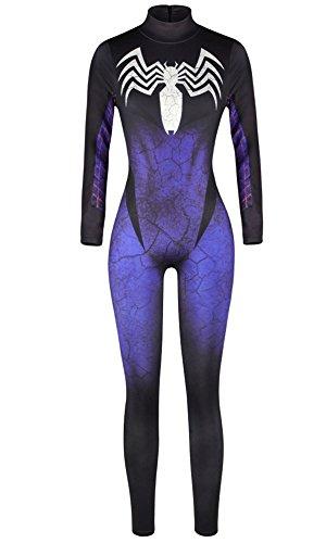 (Women 3D Style Halloween Cosplay Costumes Jumpsuit Bodysuit)