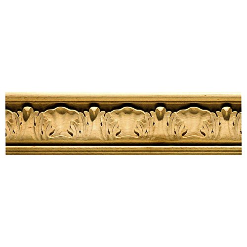 """3 5/8""""W x 4 1/2""""P, 6"""" Repeat, Molding Acanthus Crown, 12"""
