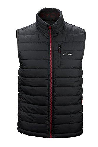 Gyde Men's Calor Puffer Heated Vest - Black-L