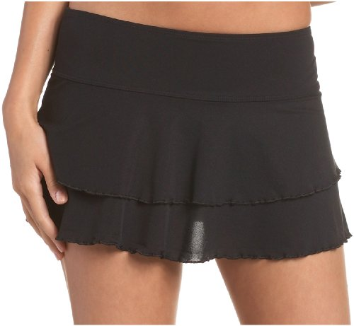 Body Glove Women's Smoothies Lambada Mesh Cover Up Skirt,Black,Medium