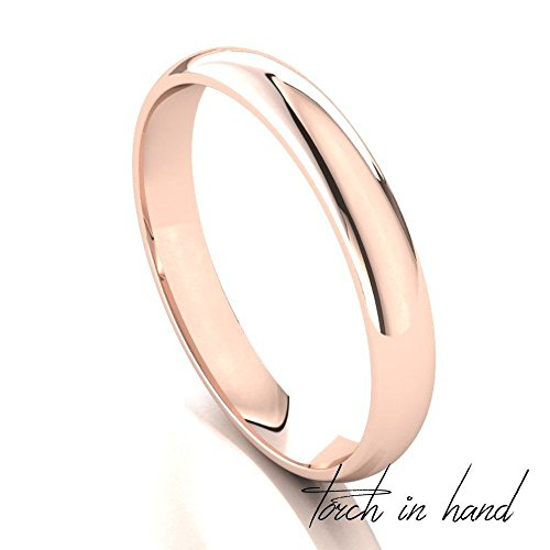 Men's 10k Solid Rose Gold 3mm Wedding Band