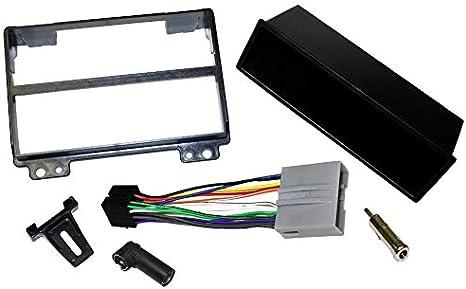 Aerzetix Mascherina adattatore autoradio telaio nero 1 DIN