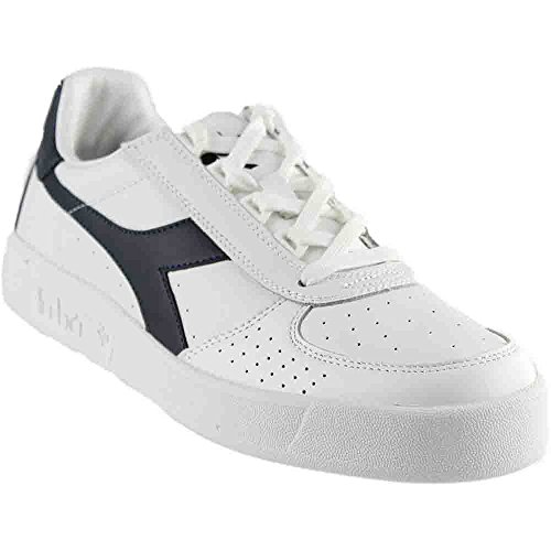 Diadora B. Elite Tennis Shoe,White/Blue Denim/Blue Denim,10.5 M US