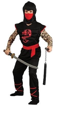 Wicked - Disfraz de guerrero ninja para niño, pechera con músculos ...