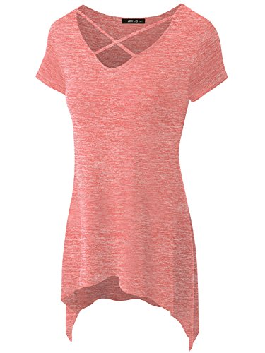 zero-city-womens-short-sleeve-casual-t-shirt-basic-cotton-simple-tunic-top-coral-l